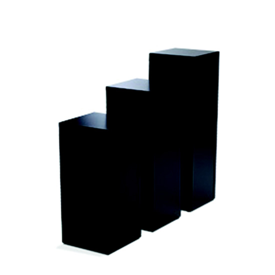 Display Pedestal 30″ Black 18″ Sq.