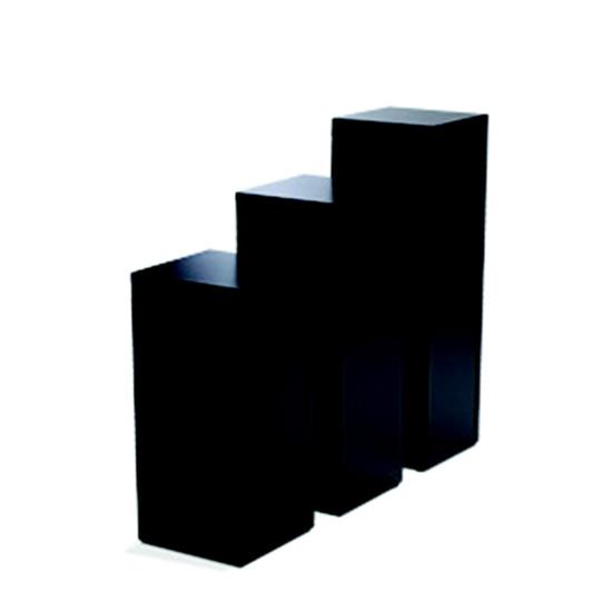 Display Pedestal 36″ Black 24″ Sq.