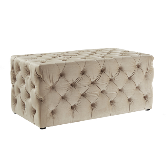 Luxe Almond Brittle Ottoman - Available March 2019