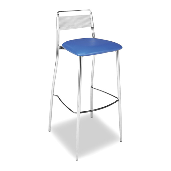 Silk Back Bar Stool - Blue