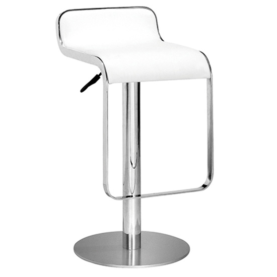 Equino Chrome Stool - White
